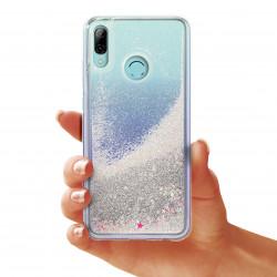 ETUI GUMA LIQUID NA TELEFON HUAWEI P SMART 2019 SREBRNY