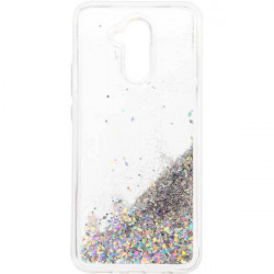 ETUI LIQUID SPARKLE NA TELEFON IPHONE 11 SREBRNY