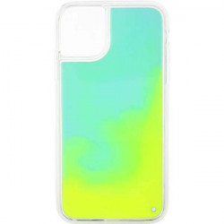 ETUI LIQUID NEON NA TELEFON APPLE IPHONE 11 ZIELONY