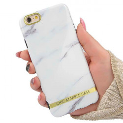 ETUI CHIC MARBLE MARMUR NA TELEFON APPLE IPHONE 6 / 6S BIAŁY