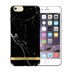 ETUI CHIC MARBLE MARMUR NA TELEFON APPLE IPHONE 6 / 6S CZARNY