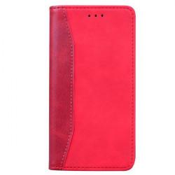 ETUI BOOK MAGNET SKÓRA NA TELEFON APPLE IPHONE 12 / 12 PRO CZERWONY