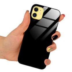 ETUI BLACK CASE GLASS NA TELEFON APPLE IPHONE 6 / 6S CZARNY
